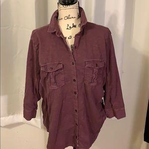 Eddie Bauer outdoor button down shirt size 2xL